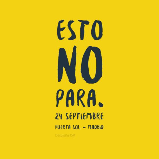 Esto no para 24S Puerta Sol Madrid